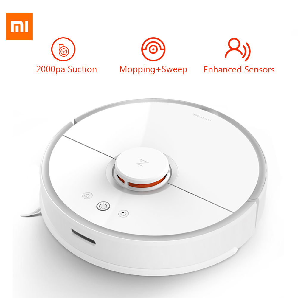 Original Xiaomi Mi Cleaning Robot 2 Mop Sweep Laser Path 2000Pa Planning Smart Phone Control Vacuum Cleaner Robot For Smart Home ems dhl post shipping to the world robot vacuum cleaner auto sweep mop one key start robot vacuum