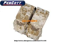 TMC Double M4 Magazine Pouch PenCott SandStorm MOLLE M4 Mag Pouches+Free shipping(SKU12050674)