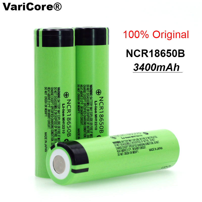 100% New Original <font><b>NCR18650B</b></font> <font><b>18650</b></font> li-ion Rechargeable battery 3400 mAh 3.7 V for <font><b>Panasonic</b></font> Flashlight/Laptop image