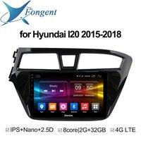 Для HYUNDAI I20 2015 2016 2017 2018 автомобильный Интеллектуальный мультимедийный плеер gps навигатор смарт панель компьютер DVD Радио Аудио экран ПК