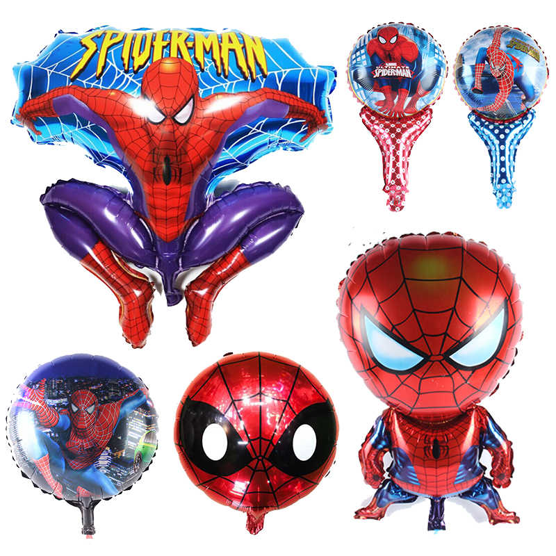 1pcs Large size Spiderman balloon Aluminum foil balloon kids boy birthday party decor baby shower party supplies kids toy gift