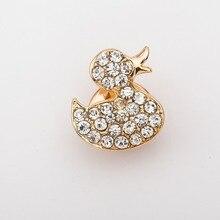 Crystal Mini Duck Lapel Pin