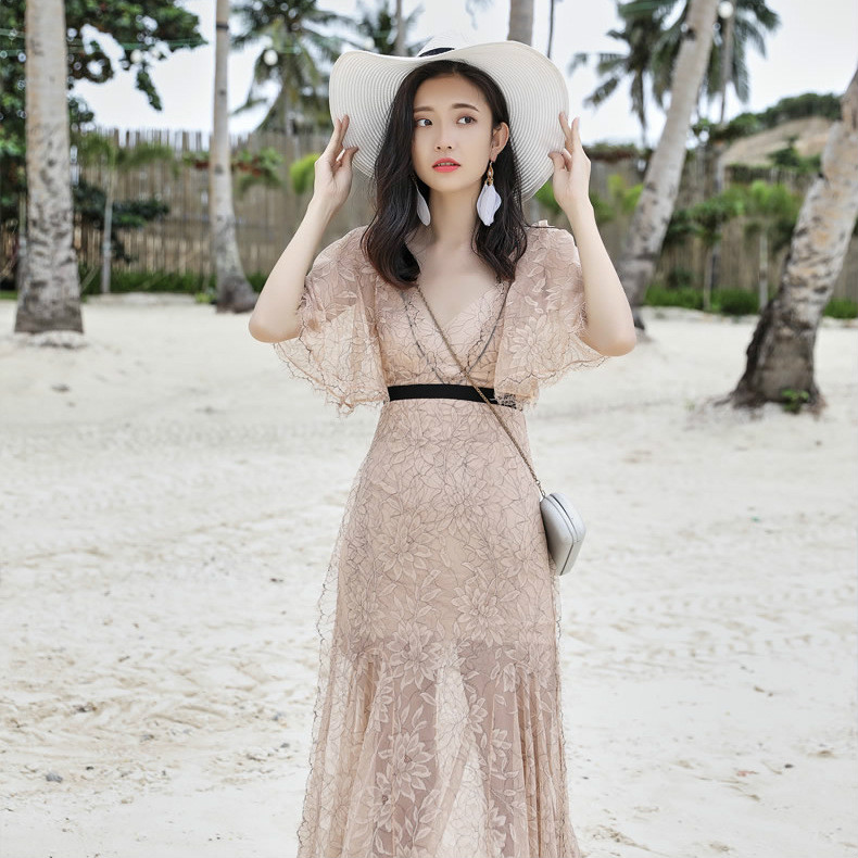 Été 2019 mode resort plage robe sexy robe pull vadim robes robe femme robe femmes robe
