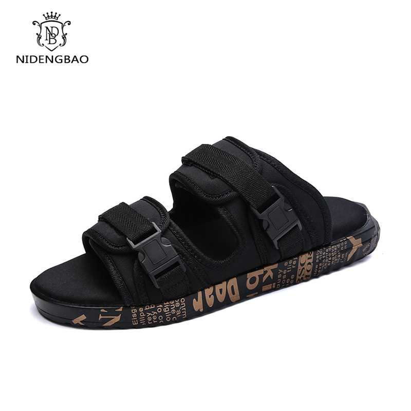 Men's Summer Shoes Sandals 2018 New Breathable Men Slippers Mesh Lighted Casual Shoes Outdoor Slip On Shoes Beach Flip Flops 22mm quick release genuine leather watchband for samsung gear s3 classic frontier watch band vintage wrist strap bracelet brown
