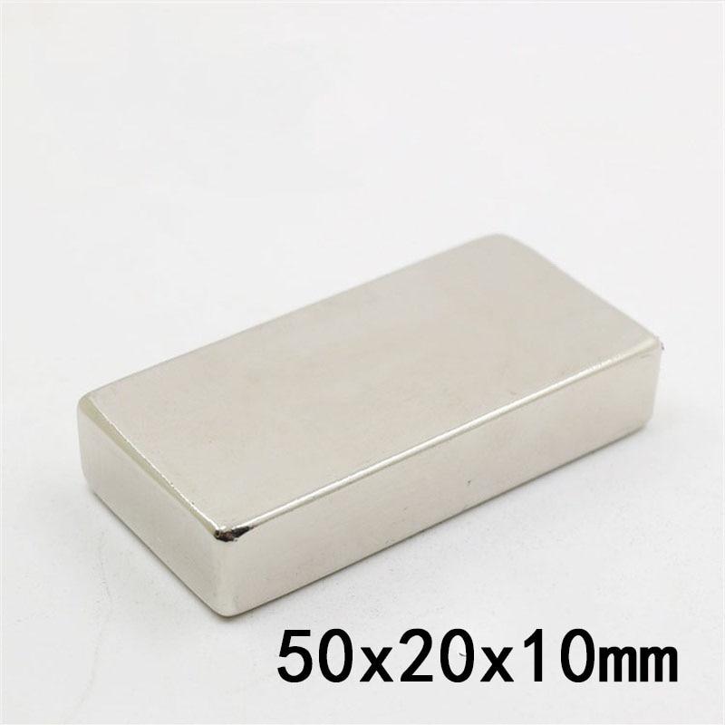 1PCS 50 x 20 x 10mm N35 Super Strong Block Cuboid Neodymium Magnets 50*20*10mm Rare Earth Powerful Magnet1PCS 50 x 20 x 10mm N35 Super Strong Block Cuboid Neodymium Magnets 50*20*10mm Rare Earth Powerful Magnet