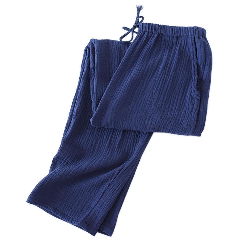 2019 New SALE Casual Sleepwear Pants Men Soft Crepe Cotton Summer Male Home Trousers Men Sleep Bottoms