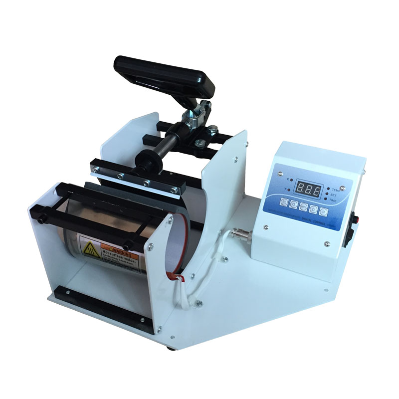 Sublimation heat press machine transfer printing printer for mug cup on hot selling Thermal transfer baking cup machine 23x30cm small heat press machine combo heat transfer machine sublimation printing machine hp230a