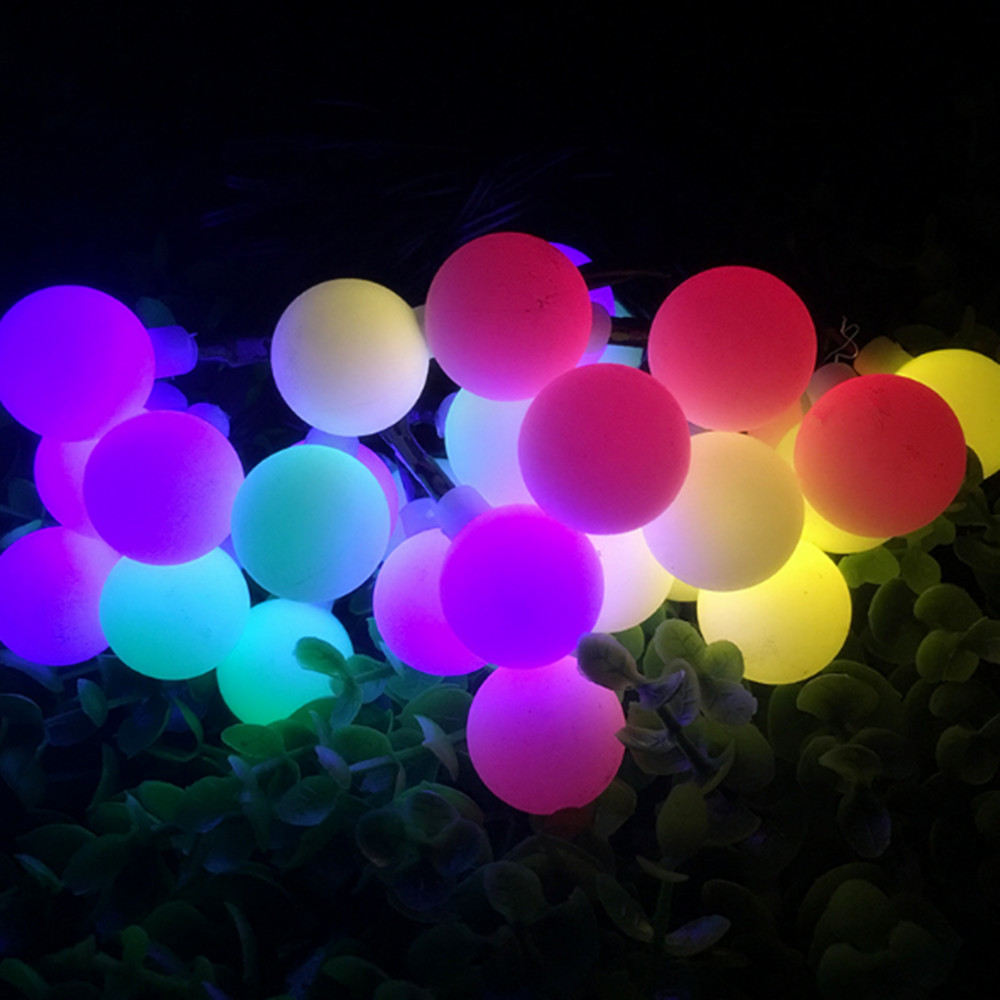 2018 NEW 5M 50 LED Colorful Ball String Lights USB Fairy Party Wedding Christmas Flashing LED Home Decoration IP44