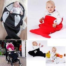 Détail Shark Infantile Bébé Sac de Couchage 2017 Nouveau-Né bébé transport hiver literie chaud poussette emmailloter sleepsacks doux sacs