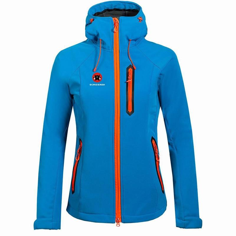 Marque Soft shell extérieur femmes veste de randonnée imperméable coupe-vent résistant aux Uv veste polaire femme ski cyclisme veste de pêche