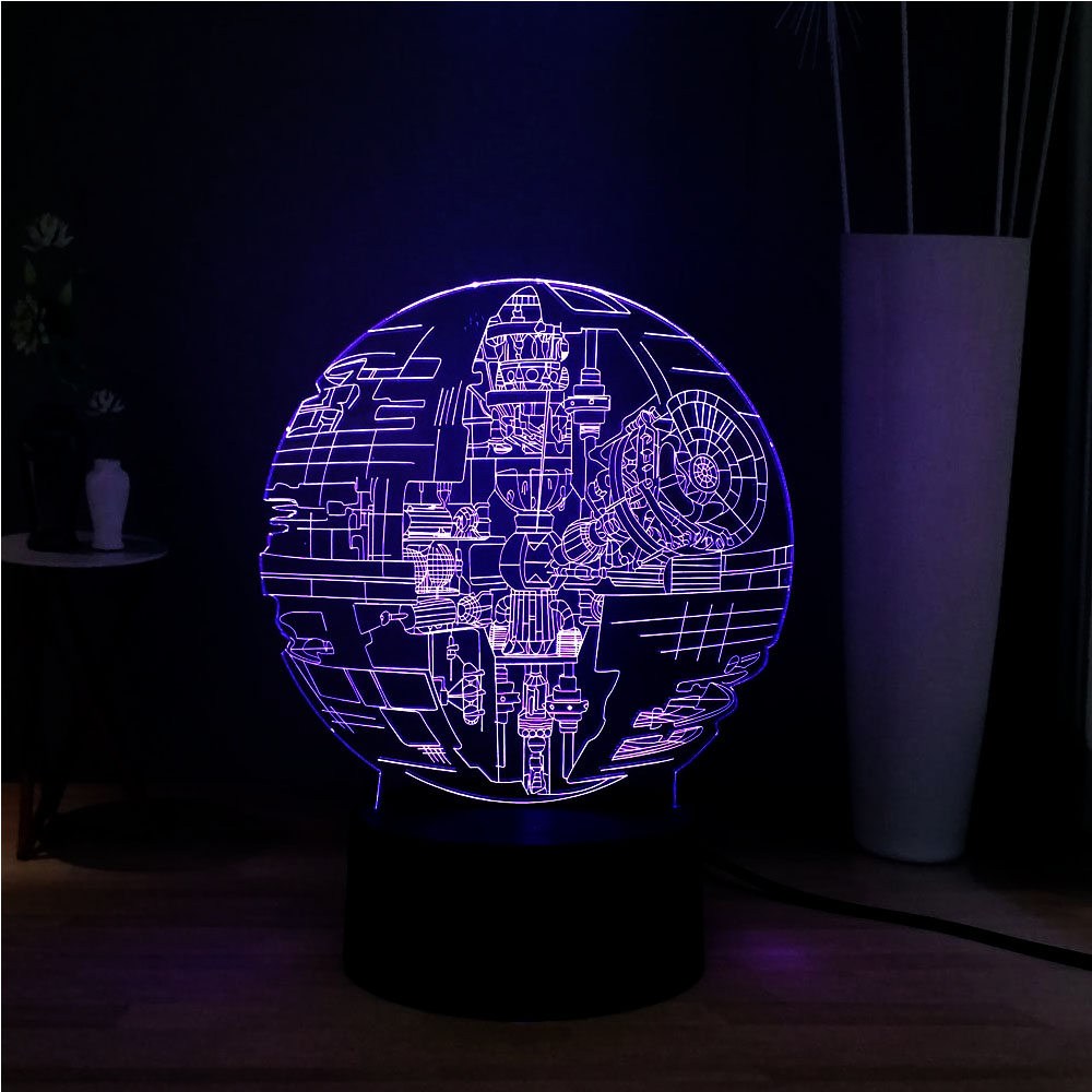 New 2019 Hot Movie 3D 7 Color Change Remote Star Wars Death Star LED Night Light Novel Atmosphere Lamp Children Birthday Gift image