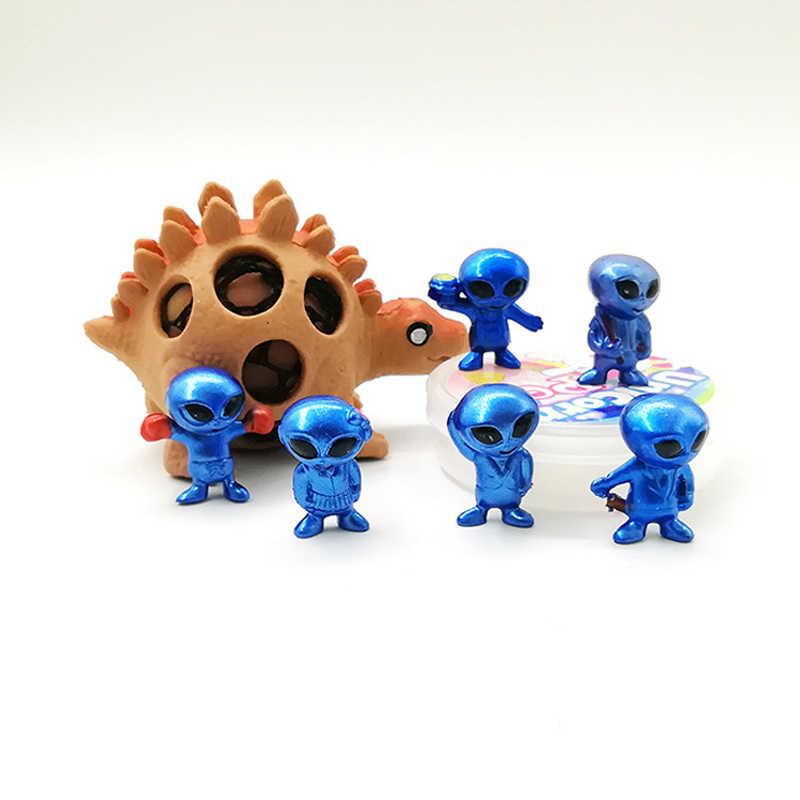 مصغرة 6 قطعة/المجموعة PVC الغريبة لعبة ET الكرتون الطابع زخرفة عمل الشكل دمية UFO أنيمي Brinquedos الاطفال لعب للأطفال هدية