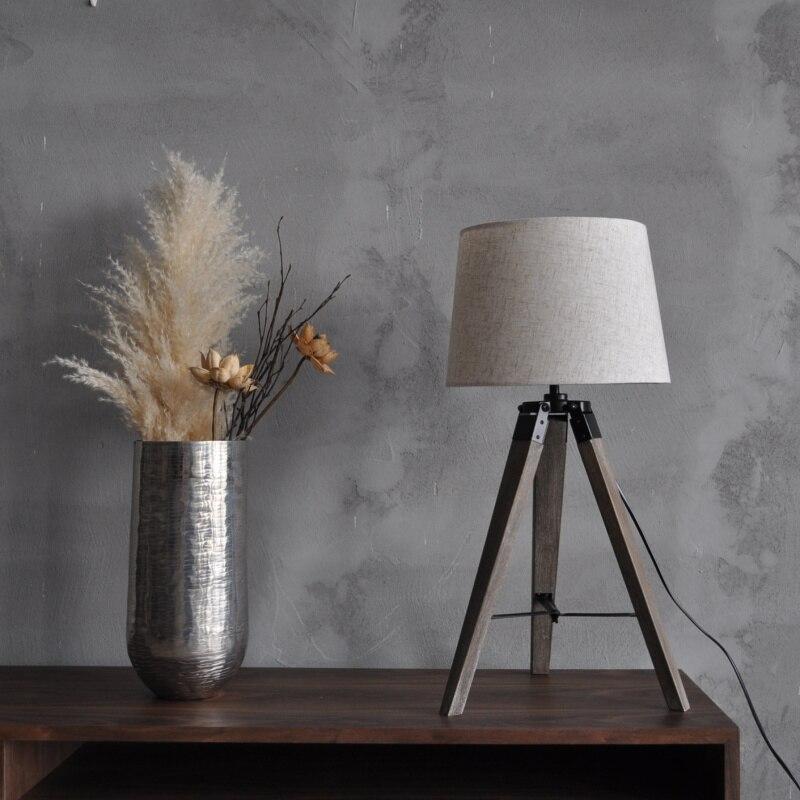 Yuenslighting Geometrie Einfache Mordern E27 Tisch Lampe Holz Stehen Platz Zirkular Dreieck FÜhrte Schreibtisch Licht GläNzend Led-tischleuchten Led-lampen