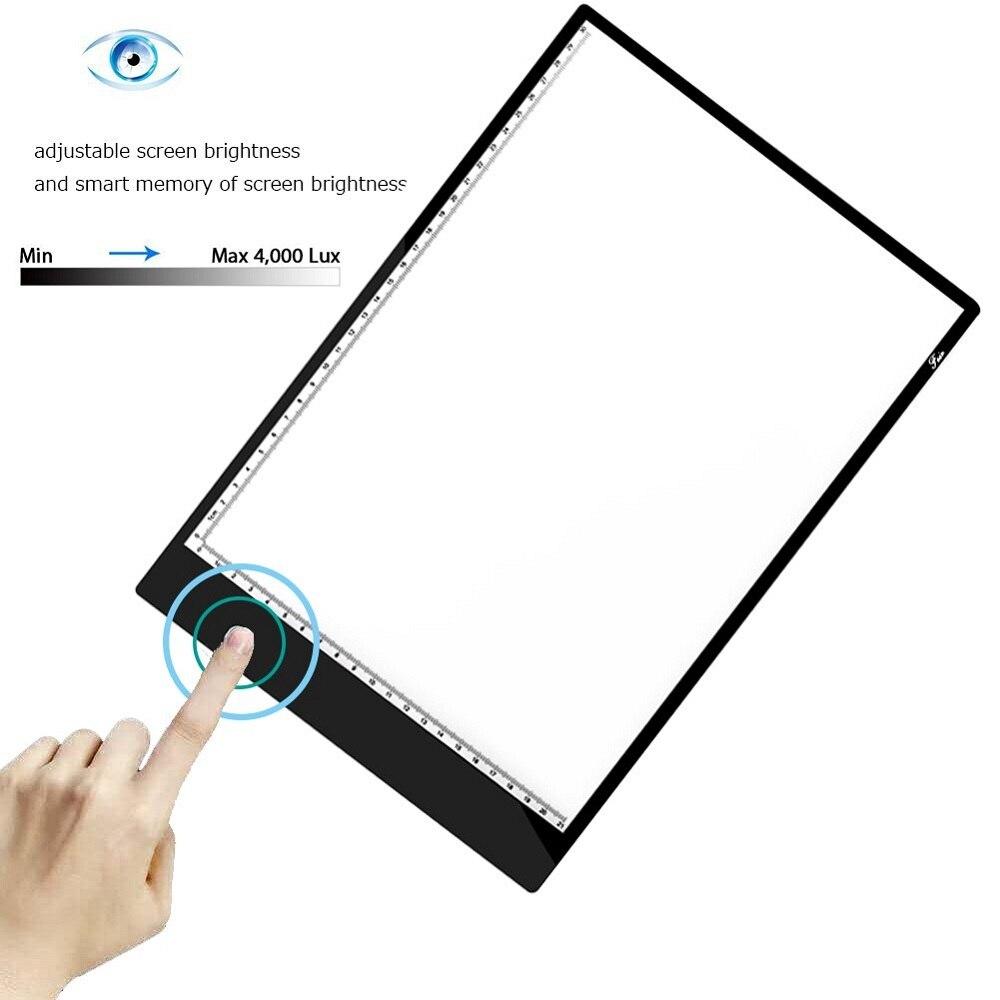 Image 2 - графический планшет для рисования  A4 Светодиодный световой короб   , планшета, цифровой Трасер, лист для копирования, доска для алмазной  живописи, эскиз, Исправление горный хрусталь-in Цифровой планшеты from  Компьютеры и офисная техника on AliExpress