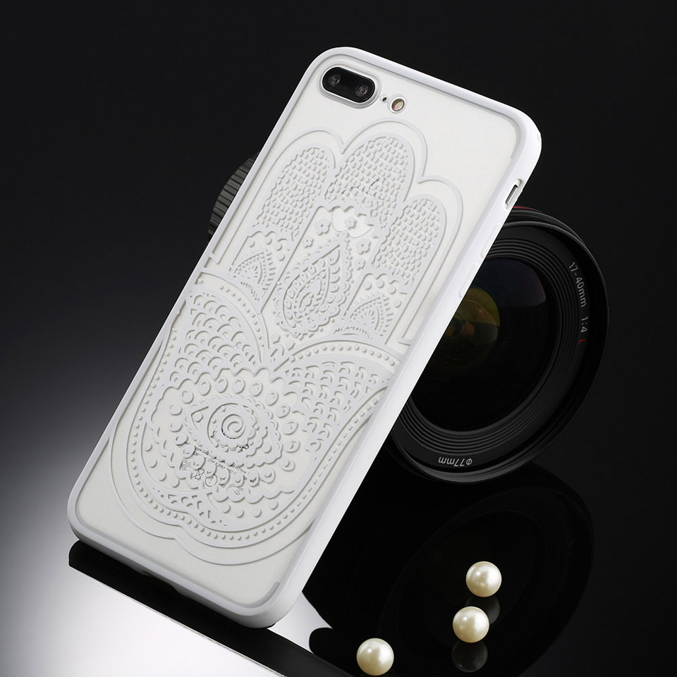 Sexy Retro Floral Phone Case For Apple iPhone 7 6 6s 5 5s SE Plus Lace Flower Hard PC+TPU Cases Back Cover Capa For iPhone7Plus 22