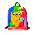 New Fashion Kids Cartoon Adventure Time Backpack for Children Student School Bag Jake Finn Boys Girls School bookbag Rucksack