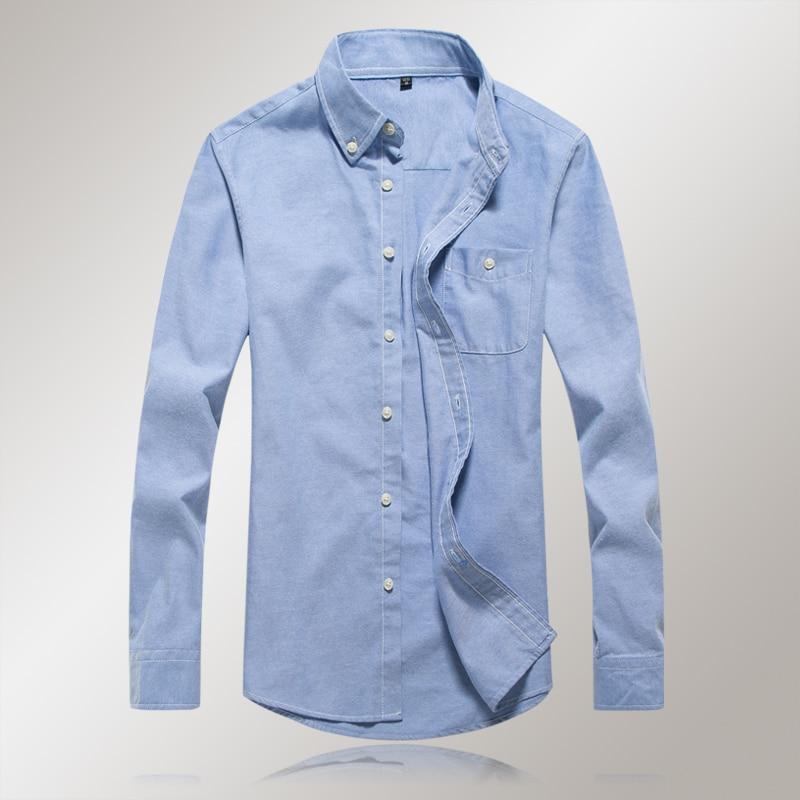 2018 new mens shirt fashion boutique cotton long-sleeved shirt / mens lapel leisure long-sleeved shirt men ...