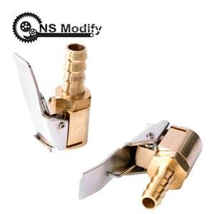 Image 2 - Ns modificar 1 pçs auto bomba de ar chuck clipe carro caminhão pneu inflator válvula conector do carro 6mm 8mm braçadeira ferramentas reparo do pneu