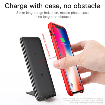 Baseus Qi Wireless Charger For iPhone Xs Max XR Samsung S9 Note 10 Xiaomi Desktop Wireless Charger Wireless Charging Pad Station 4