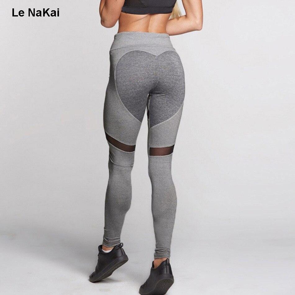 Push up Heart Booty Sexy font b Yoga b font Leggings Women Fitness Mesh font b