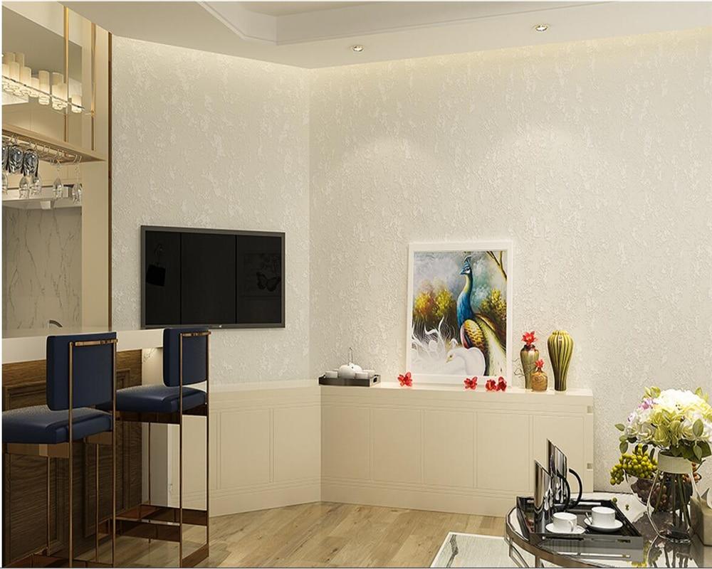 Beibehang Solid color 3d wallpaper warm bedroom wallpaper modern ...