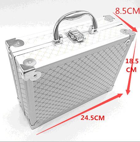 Luxus Aluminium Uhr & Schmuck Koffer Lagerung mit Griff Uhren Box - Uhrenzubehör - Foto 5