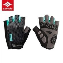 Santic велосипедные перчатки с полупальцами профессиональные MTB/дорожные противоударные противоскользящие перчатки без пальцев синие/или велосипедные перчатки