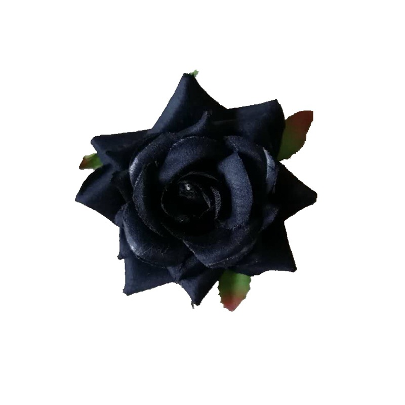 6 5cm Round Mini Black Rose Artificial Flowers Head Silk Rose For Wedding Decor Scrapbooking Plastic Fabric Ivory Red DIY Flower in Artificial Dried Flowers from Home Garden