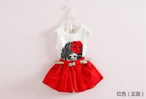 Image 3 - Летняя одежда для маленьких девочек, детский жилет, шорты, два комплекта ремней, детская одежда