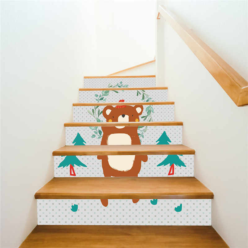 DIY wodospad 3D na klatkę schodową/ścianę naklejki kroki naklejki usuwalne dekoracje do domu ceramiczne wzory płytek DIY ściana papierowa naklejka 2019