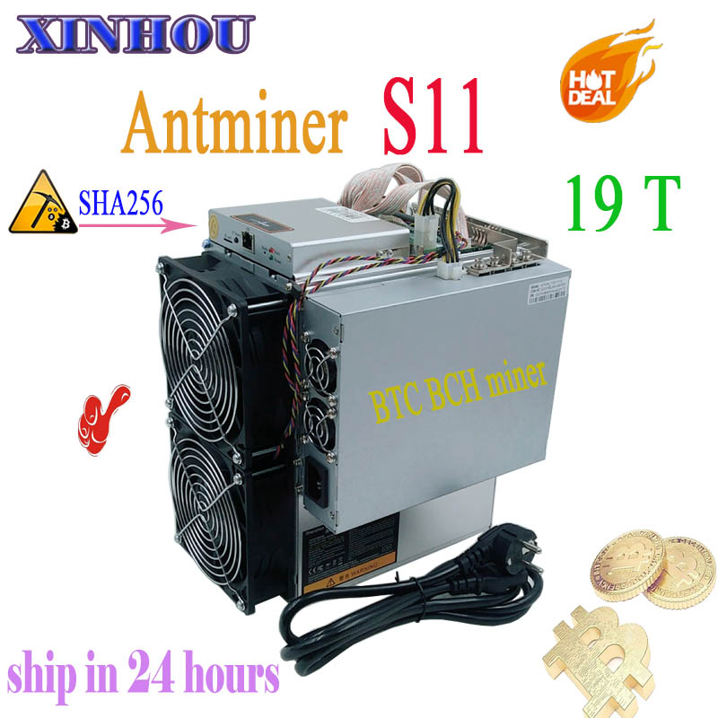 Asic BTC Mineiro AntMiner SHA-256 BCH S11 19 T Com PSU Bitcoin Miner Better Than S9 S15 T15 Innosilicon T2T t3 WhatsMiner M3 M10