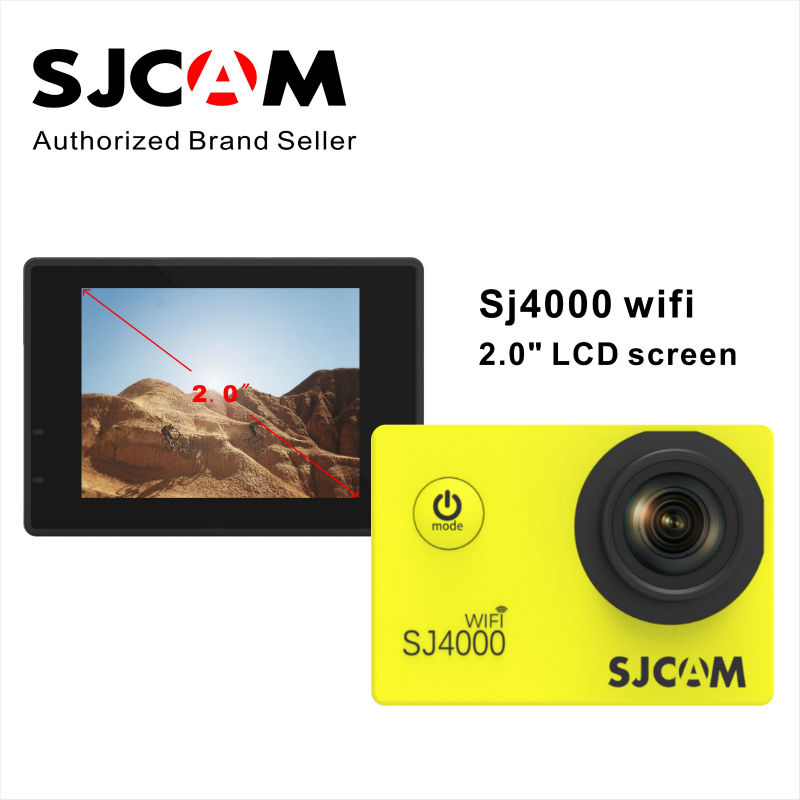 New Original SJCAM SJ4000 WIFI 2.0 LCD screen video action camera 170 wide angle  full hd 1080p waterproof  Sport action camrea ipod video 30gb 60gb 80gb lcd screen original