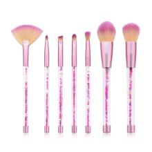 7 Pcs Glitter Makeup Brushes Set Foundation Power Blending Eyeshadow Eyebrow Brush Cosmetic Beauty Makeup Tools Pincel Maquiagem