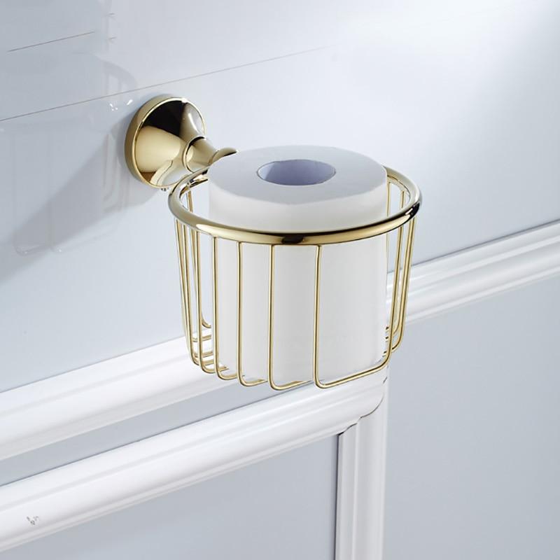 купить White Toilet Paper Holder Black Gold Chrome Bronze Vintage Bathroom WC Tissue Paper Towel Rack Storage Basket Decorative Shelf по цене 1865.17 рублей