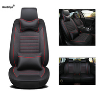 High quality Leather car seat cover for vw golf 4 5 VOLKSWAGEN polo 6r 9n passat b5 b6 b7 arteon styling covers for vehicle seat