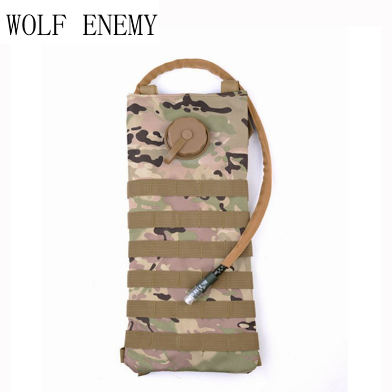 Molle 2.5L Hydration Water Reservoir Pouch Backpack Water Bag Outdoor Sport Hiking Hunting Airsoft Tactical Bike Outdoor Bag