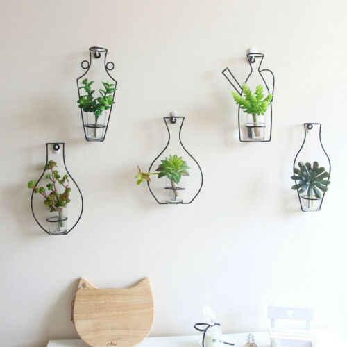 สไตล์นอร์ดิกเหล็กกรอบแจกันแขวนผนังพืชดอกไม้ Racks ขวด DIY Creativite ชั้นวางของตกแต่ง