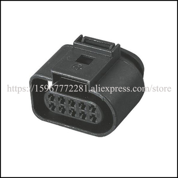 free shipping 1J0 973715 car male Connector female cable Terminal jacket auto socket 10 pin Connector automotive plug 1.5 series image