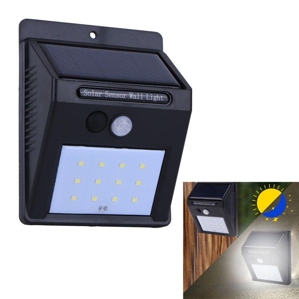 6LED 12LED 20LED Solaire Lumière Solaire Alimenté Conduit Mur Lumière Extérieure Sans Fil Étanche Avec Motion Sensor Lumière 3 Styles