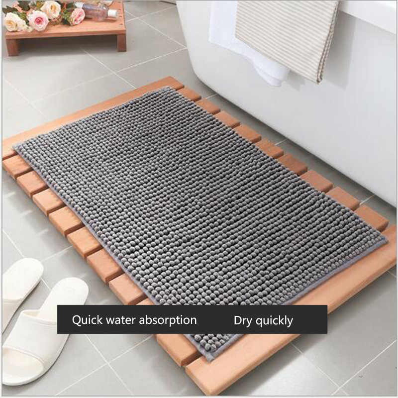Bath Mats Soft Chenille Washable Rugs