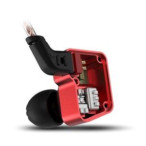 Image 2 - KZ BA10 Headset Balanced Armature Driver 5BA HIFI Bass Earbuds In Ear Monitor Earphone Sport Noise Cancelling Metal Headphones