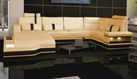 Super Large Size Villa Furniture Genuine Leather Sofa Set Modern Couch Sofa S8704