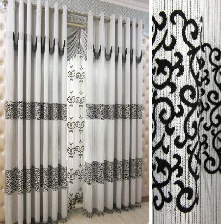 image with rideau pour salon moderne - Rideaux Pour Salon Noir Blanc