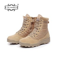 New exhibition military Work boots men Desert Tactical Martin army boots Outdoor Hiking Shoes Travel Leather High Boot Male39 44