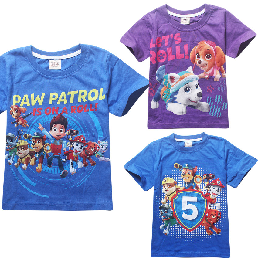 3e8956eaf036 New Girls Boys T-shirts Kids clothes cotton short-sleeved Cartoon ...