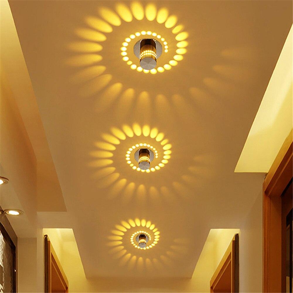 Modern LED Downlight 3W Creative Recessed ceiling down lights110v 220v Led Bulb Bedroom Porch channel Indoor LED Lighting