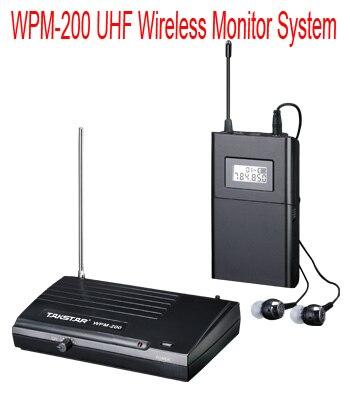 NEW Takstar WPM 200 UHF Wireless Monitor System Stereo In Ear Wireless earphones ear Transmitter Receiver
