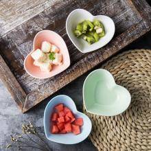 New Modern Pink Blue Love Heart Shape Ceramics Creative Bowl Durable For Fruit Salad Dish Sugar Snack Plate for Kitchen salad love page 5