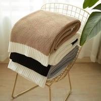 Handgemaakte Hoge Kwaliteit Zachte Sofa Bed Gebreide Deken voor Zomer Fotografie Props Gooi Woondecoratie