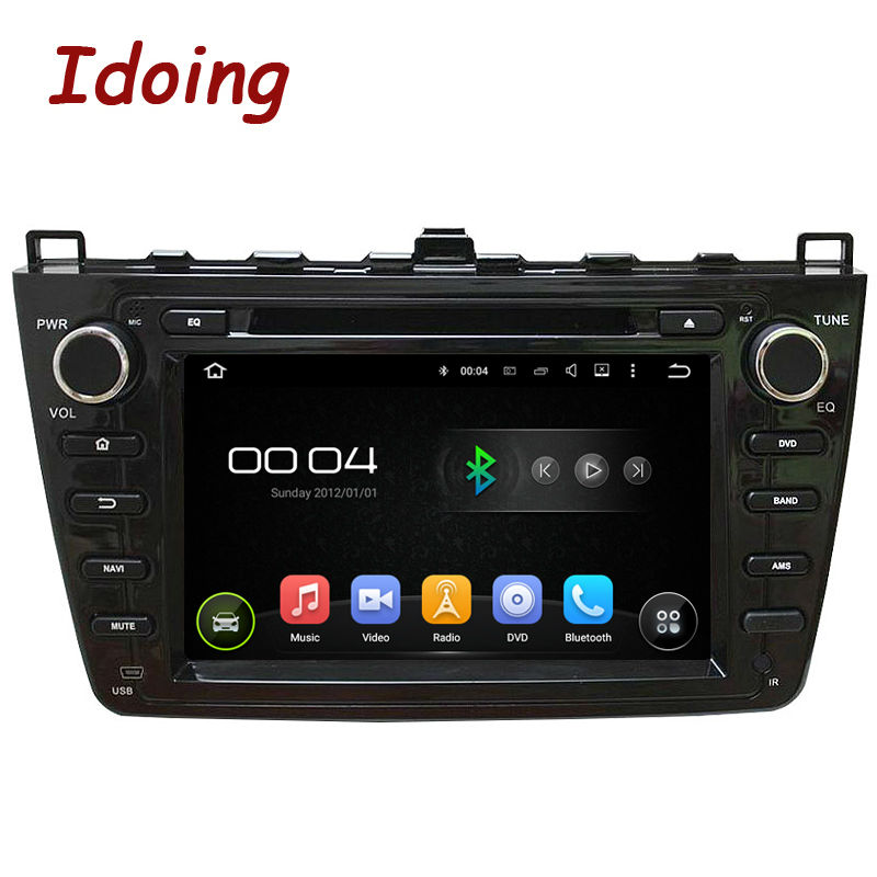 "2Din 8"" Car DVD Multimedia Player Android 5.1 Fit Mazda 6 RuiyiUltra GPS Navigation 1080P Steering-Wheel Touch Screen Bluetooth"